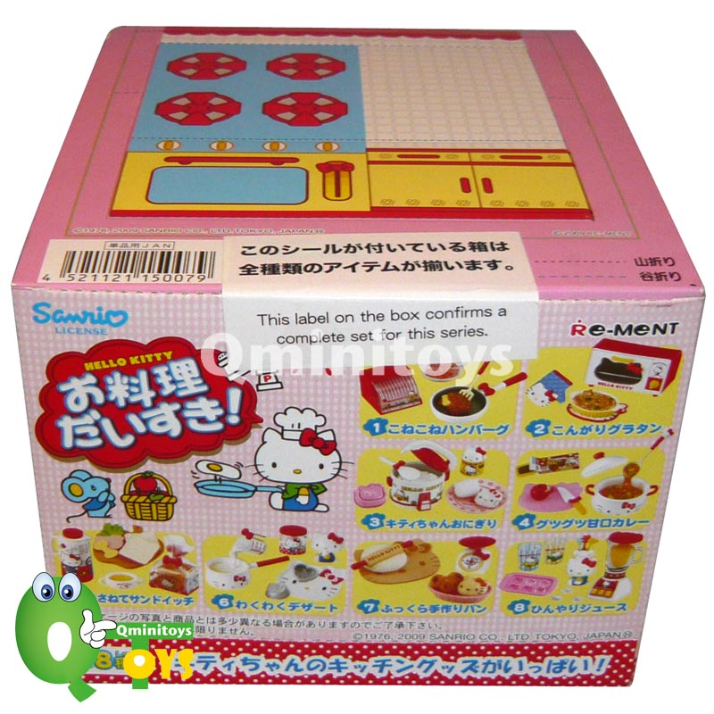 Re Ment Kitchen Set: Re-ment Hello Kitty I Love Cooking Full Set Of 8 Pcs, Q